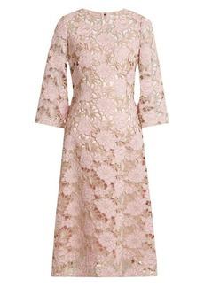 Dolce & Gabbana Wool-blend lace midi dress