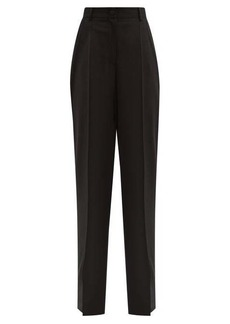 Dolce & Gabbana Wool-blend wide-leg trousers