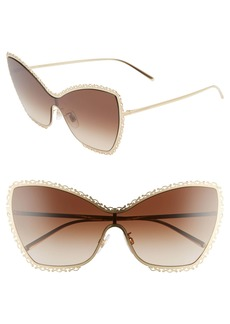 Dolce & Gabbana Dolce&Gabbana 145mm Butterfly Shield Sunglasses