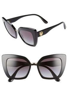 Dolce & Gabbana Dolce&Gabbana 52mm Cat Eye Sunglasses