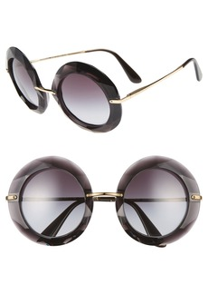 Dolce & Gabbana Dolce&Gabbana 50mm Round Sunglasses