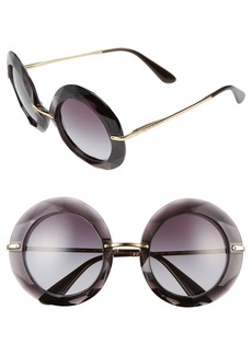Dolce&Gabbana 50mm Round Sunglasses
