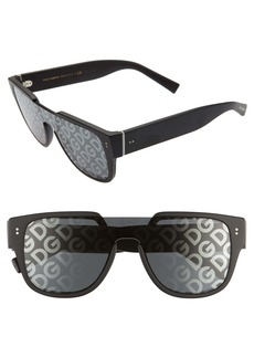 Dolce & Gabbana Dolce&Gabbana 50mm Shield Lens Sunglasses