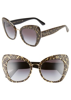 Dolce & Gabbana Dolce&Gabbana 51mm Gradient Cat Eye Sunglasses