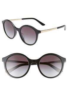 Dolce & Gabbana Dolce&Gabbana 51mm Gradient Round Sunglasses