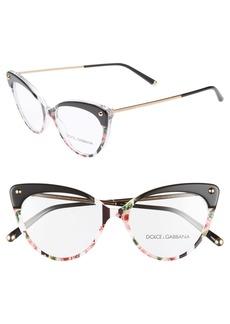 Dolce & Gabbana Dolce&Gabbana 52mm Cat Eye Optical Glasses