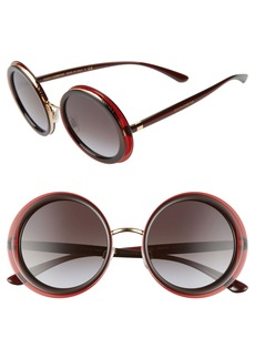 Dolce & Gabbana Dolce&Gabbana 52mm Gradient Round Sunglasses
