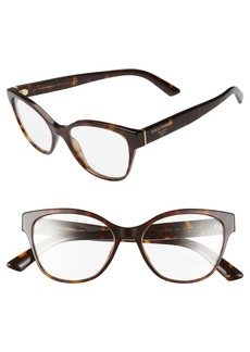 Dolce & Gabbana Dolce&Gabbana 52mm Optical Butterfly Glasses