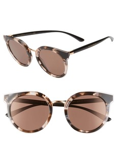Dolce & Gabbana Dolce&Gabbana 52mm Polarized Round Cat Eye Sunglasses