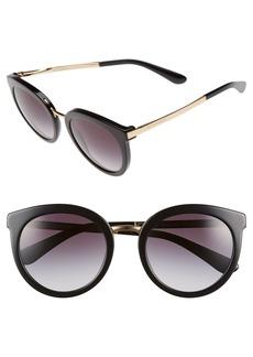 Dolce&Gabbana 52mm Round Sunglasses