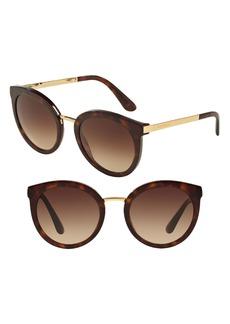 Dolce & Gabbana Dolce&Gabbana 52mm Round Sunglasses
