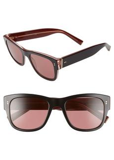 Dolce & Gabbana Dolce&Gabbana 52mm Tinted Square Sunglasses