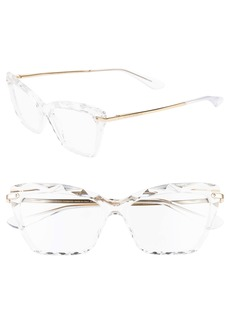 Dolce & Gabbana Dolce&Gabbana 53mm Cat Eye Optical Glasses