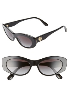 Dolce & Gabbana Dolce&Gabbana 53mm Cat Eye Sunglasses