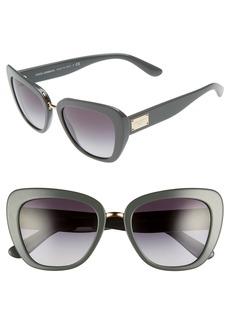 Dolce&Gabbana 53mm Gradient Cat Eye Sunglasses