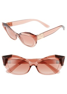 Dolce & Gabbana Dolce&Gabbana 54mm Gradient Beveled Cat Eye Sunglasses