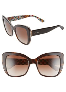 Dolce & Gabbana Dolce&Gabbana 54mm Gradient Butterfly Sunglasses