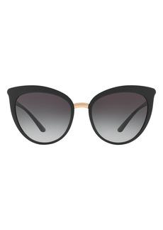 Dolce & Gabbana Dolce&Gabbana 54mm Mirrored Cat Eye Sunglasses
