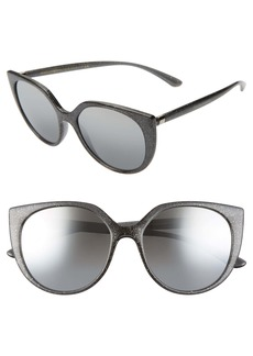 Dolce & Gabbana Dolce&Gabbana 54mm Mirrored Cat Eye Sunglasses