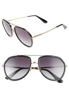 Dolce&Gabbana 55mm Aviator Sunglasses