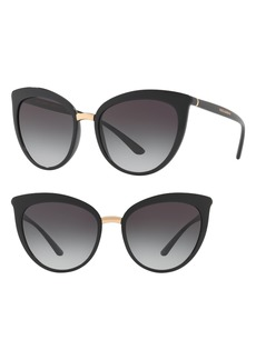 Dolce & Gabbana Dolce&Gabbana 55mm Gradient Cat Eye Sunglasses