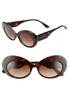 Dolce & Gabbana Dolce&Gabbana 55mm Gradient Oval Sunglasses
