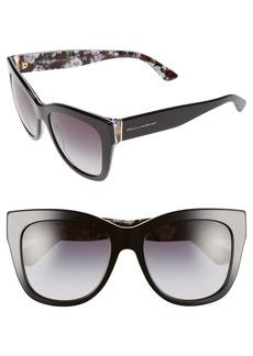 Dolce&Gabbana 55mm Retro Sunglasses