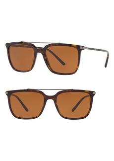 Dolce & Gabbana Dolce&Gabbana 55mm Square Sunglasses