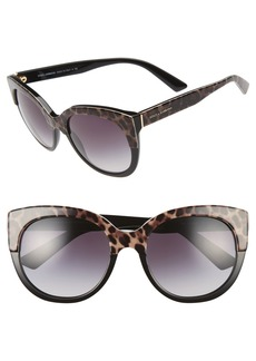 Dolce&Gabbana 56mm Cat Eye Sunglasses