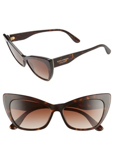 Dolce & Gabbana Dolce&Gabbana 56mm Cat Eye Sunglasses