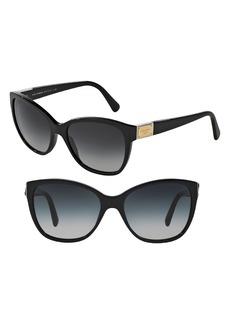 Dolce&Gabbana 56mm Gradient Lens Butterfly Sunglasses