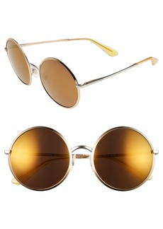 Dolce&Gabbana 56mm Mirrored Round Sunglasses