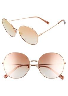 Dolce & Gabbana Dolce&Gabbana 56mm Round Sunglasses