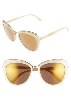 Dolce&Gabbana 57mm Gradient Cat Eye Sunglasses