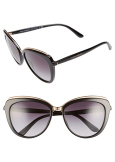 Dolce & Gabbana Dolce&Gabbana 57mm Gradient Cat Eye Sunglasses