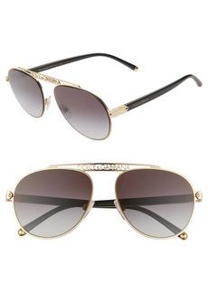Dolce & Gabbana Dolce&Gabbana 57mm Gradient Pilot Aviator Sunglasses