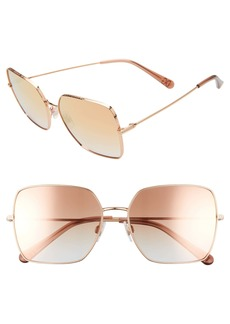 Dolce & Gabbana Dolce&Gabbana 57mm Gradient Square Sunglasses