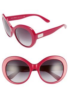 Dolce & Gabbana Dolce&Gabbana 57mm Round Sunglasses