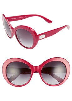 Dolce&Gabbana 57mm Round Sunglasses