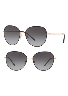 Dolce & Gabbana Dolce&Gabbana 58mm Gradient Round Sunglasses