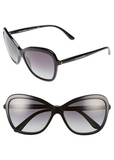 Dolce&Gabbana 59mm Gradient Butterfly Sunglasses