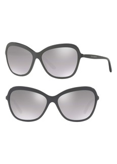 Dolce & Gabbana Dolce&Gabbana 59mm Gradient Mirrored Sunglasses