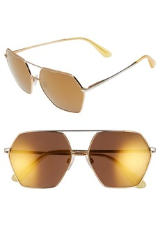 Dolce&Gabbana 59mm Mirrored Aviator Sunglasses