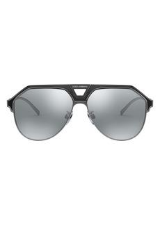 Dolce & Gabbana Dolce&Gabbana 60mm Gradient Aviator Sunglasses