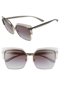 Dolce & Gabbana Dolce&Gabbana 60mm Gradient Butterfly Sunglasses