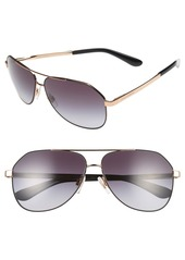 Dolce & Gabbana Dolce&Gabbana 61mm Aviator Sunglasses
