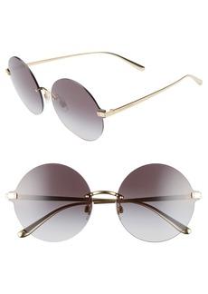 Dolce & Gabbana Dolce&Gabbana 62mm Oversize Gradient Rimless Round Sunglasses