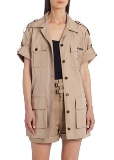 Dolce & Gabbana Dolce&Gabbana Belted Short Sleeve Silk Cargo Jacket