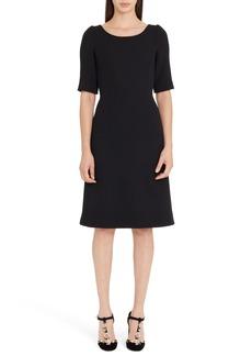 Dolce & Gabbana Dolce&Gabbana Button Detail Wool Crepe Dress