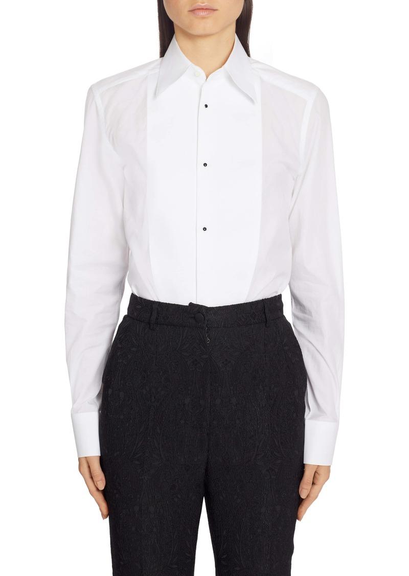 Dolce & Gabbana Dolce&Gabbana Contrast Bib Menswear Shirt